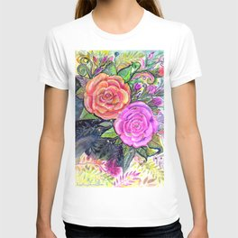 painting roses makes me EUPHORIC! T-shirt