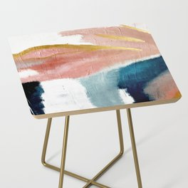 Exhale: a pretty, minimal, acrylic piece in pinks, blues, and gold Side Table