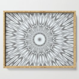 Gray Kaleidoscope Serving Tray