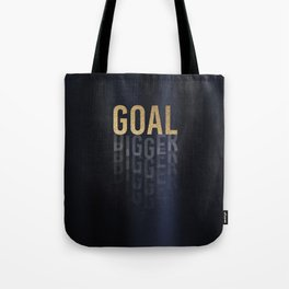 Goal Digger - Gold on Black Tote Bag