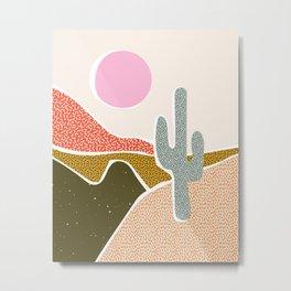 Patterned Desert Metal Print
