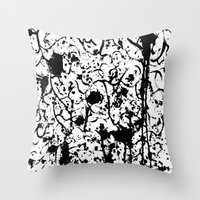 chaos Throw Pillows featuring Chaos by ZantosDesign