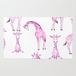 Pink Giraffes Rug