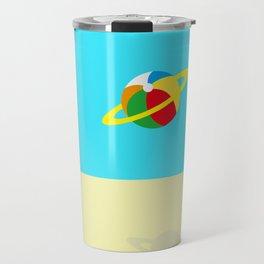 Space Odyssey | Astronaut Beach | Beach Ball | Summer | Sea | Seaside | Ocean | pulp of wood Travel Mug