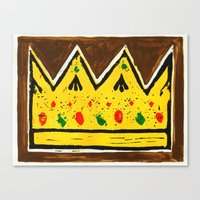 crown Canvas Prints featuring Crown by Briony Smith