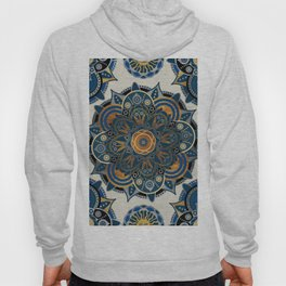 Mandala Blue and Gold Hoody