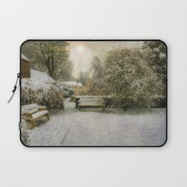 Magical Snowy Garden Laptop Sleeve