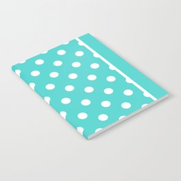Turquoise Polka Dots Palm Beach Preppy Notebook