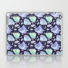 Modern abstract mint pastel purple floral illustration Laptop & iPad Skin