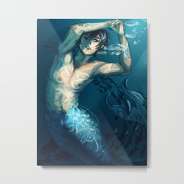 FREE! Haru Merman Metal Print