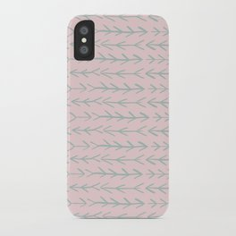 Contemporary Pink and Mint Arrow Pattern iPhone Case