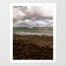 Stony Beach in Rogers City, MI Art Print