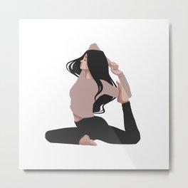 Yoga girl pink II Metal Print