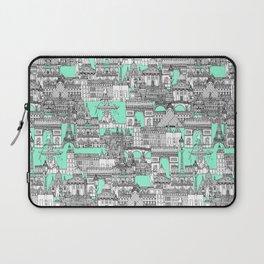 Paris toile aquamarine Laptop Sleeve