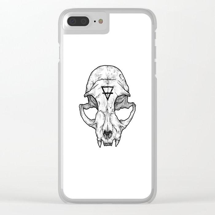 Cat Skull II Clear iPhone Case