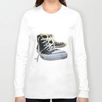 converse Long Sleeve T-shirts featuring Converse by Jake Fishkind