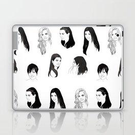Keeping Up (Black and White) Laptop & iPad Skin