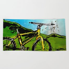 the bike Beach Towel