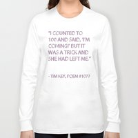 poem Long Sleeve T-shirts featuring Poem #1077 by Deep Search