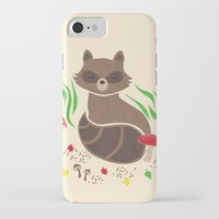 raccoon iPhone & iPod Cases featuring Raccoon by Lynette Sherrard Illustration and Design