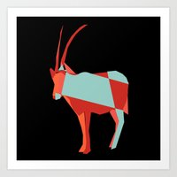 Scimitar Horned Orix  Art Print