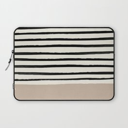 Latte & Stripes Laptop Sleeve