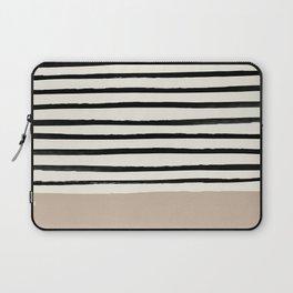 Latte & Stripes Laptop Sleeve