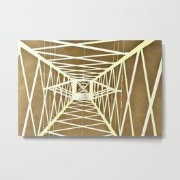 Electric pylon - Abstract Monochrome Metal Print