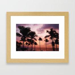 Palm Tree Sunset Framed Art Print