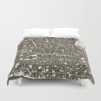 london map Duvet Covers featuring London Map by Zeke Tucker