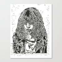 ramones Canvas Prints featuring Joey  by Travis Poston