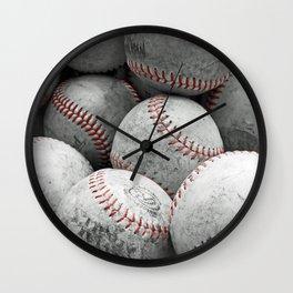 Vintage Baseballs Wall Clock