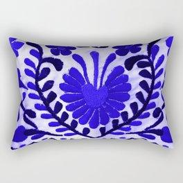 Strange Love Blue Rectangular Pillow