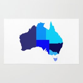 Australia State Silhouette Rug