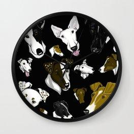 Smooth Fox Terrier- Black Wall Clock