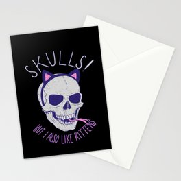 Skulls and Kittens Stationery Cards