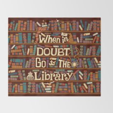 Go to the library Throw Blanket