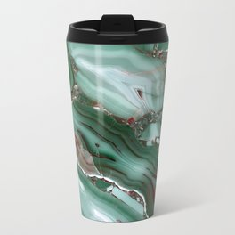 Luxury Malachite Marble Agate Metal Travel Mug
