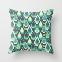 feathers Throw Pillows featuring Feathers by Kakel