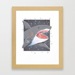 Hark a Shark Framed Art Print
