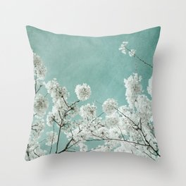 flowering season Throw Pillow