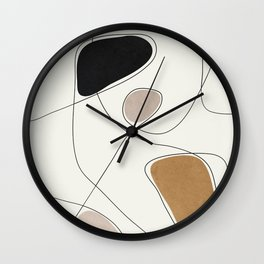 Thin Flow I Wall Clock