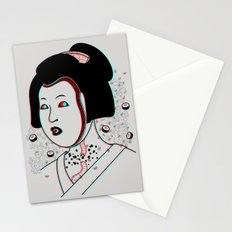 Psychedelic Geisha Stationery Cards