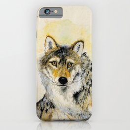 Totem Grey wolf iPhone Case