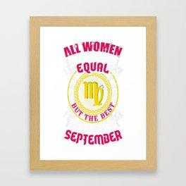 Best-Women-Born-In-September-Virgo---Sao-chép Framed Art Print