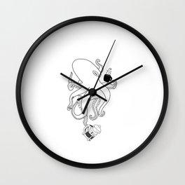 Octopus coffee Wall Clock