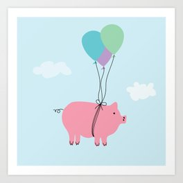 When Pigs Can Fly Art Print
