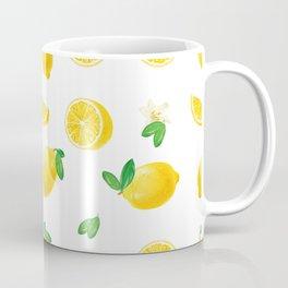 Bittersweet Mellow Bright Yellow Lemon Teeshirt,Yellow sour fruit, High quality lemon pattern, summe Coffee Mug