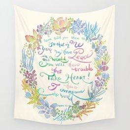 Take Heart - John 16:33 Wall Tapestry