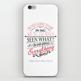 A DARKER SHADE OF MAGIC by V.E.Schwab - Book Quote iPhone Skin